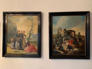 Óleos reproducciones Goya