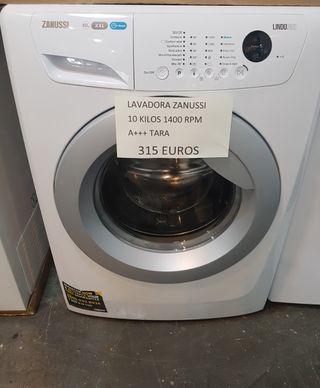 Lavadora zanussi 10 kilos 1400 rpm a+++
