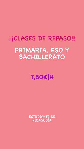 CLASES DE REPASO DESCUENTO!!! Ahora 7€