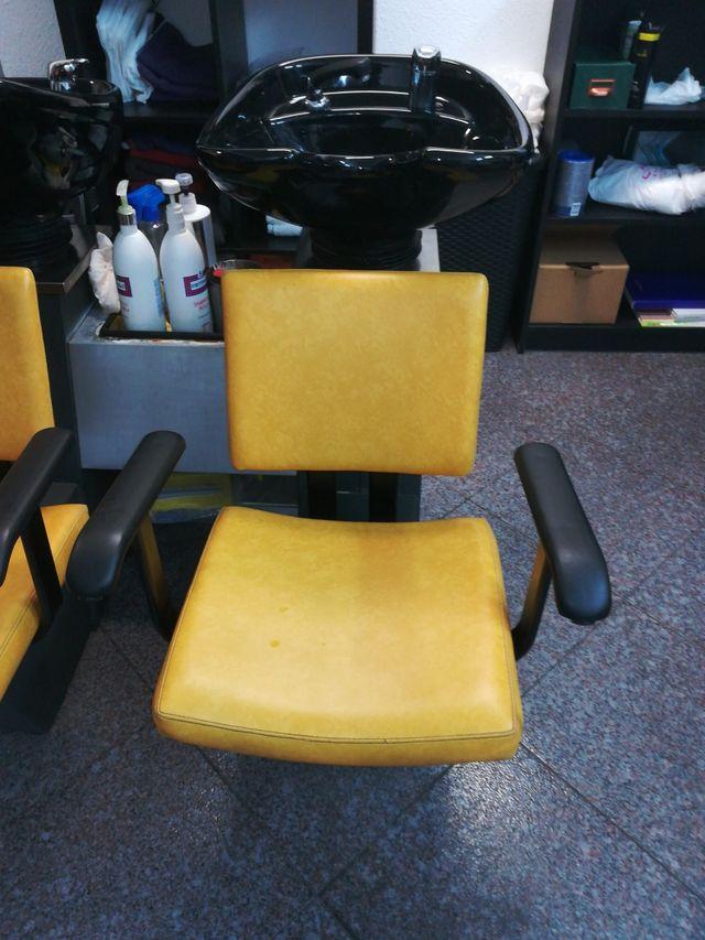 lavacabezas de peluqueria y dos sillones 100e