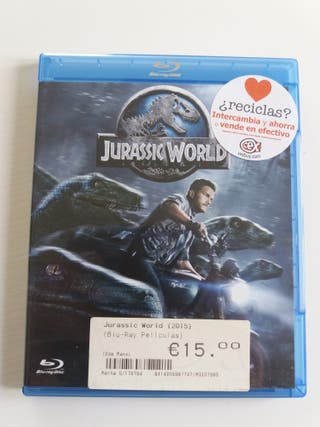 "Bluray pelicula ""Jurassic World""(usado)"