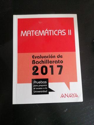 Evaluación de bachillerato Matemáticas