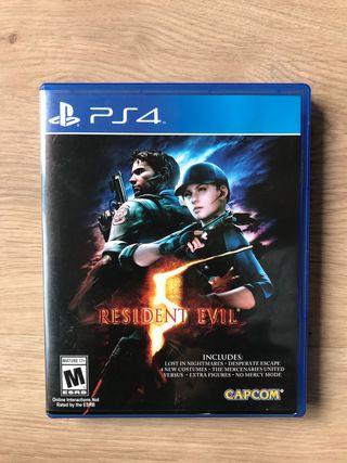 Juego Resident Evil 5 de ps4 con regalo
