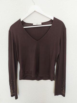 blusa vintage ajustada