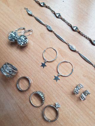 Conjunto de joyas plata y acero