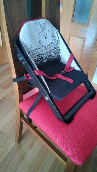 Silla bebé convertible en trona portátil