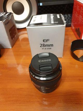 Objetivo Canon 28mm f/1.8 USM
