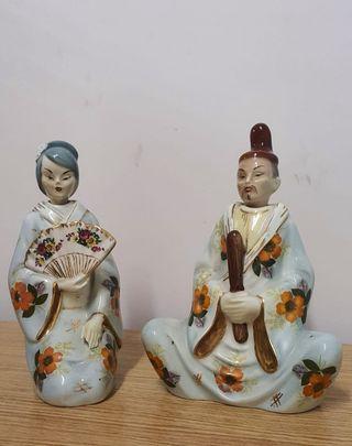 Figuras chinos de porcelana, cabeza movil.