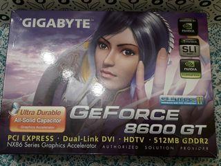 Tarjeta gráfica NVIDIA 8600Gt 512 Mb