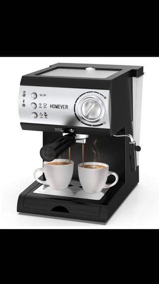 HOMEVER Retro Cafetera Espresso 15 Bares, 1050W
