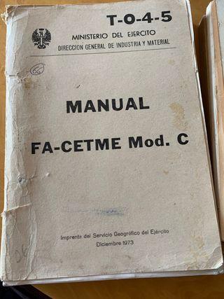 Manual Fa-Cetme Mod. C