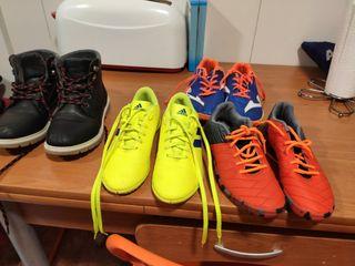 botas futbol sala y botas afelpadas