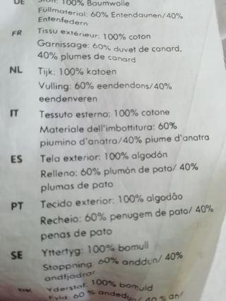 EDREDON NORDICO RELLENO