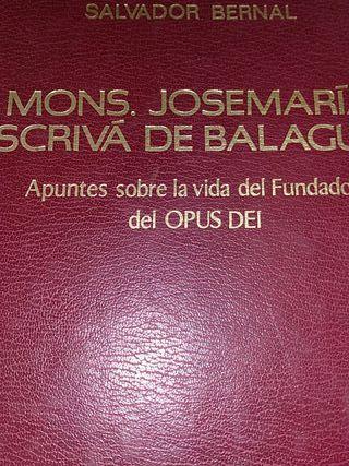 libro Mons. Escrivá de Balaguer