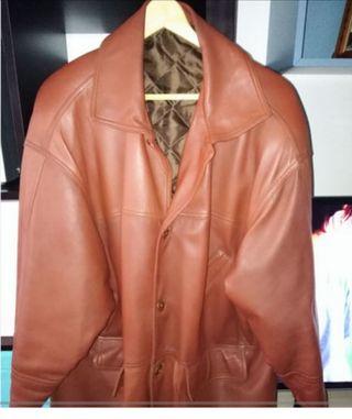 Abrigo piel hombre XL
