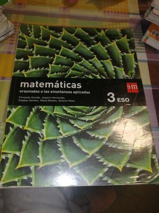 libro de matemáticas aplicadas 3°eso