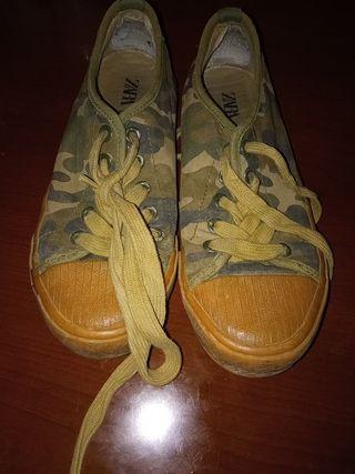 zapatillas militares ZARA