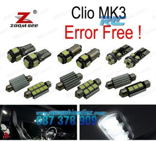 KIT 15 BOMBILLAS LED INTERIOR RENAULT CLIO III MK3