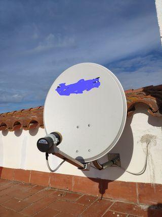 antena parabólica nueva