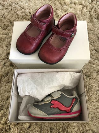 2 pares zapatos bebé niña número 20