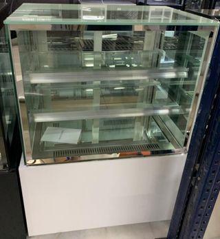 vitrina expositora refrigerada blanca rEDONDA