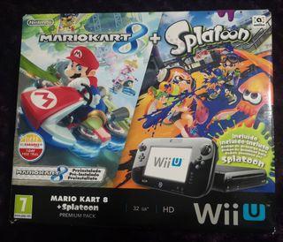 Wii U caja vacía e instrucciones