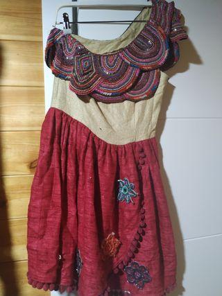 vestido joya artesanal