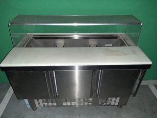 vitrina refrigerada + caja registradora