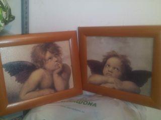 Cuadros pequeños angelitos.