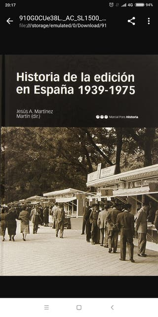 HISTORIA DE LA EDICIÓN EN ESPAÑA 1937-1975