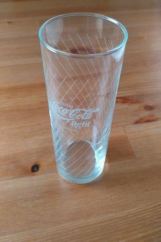 24 vasos de tubo cristal Luminarc Coca Cola nuevos