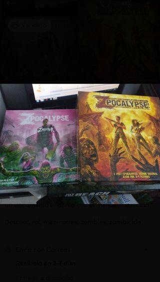 Zpocalypse + Zmaster, juego de mesa y expansión
