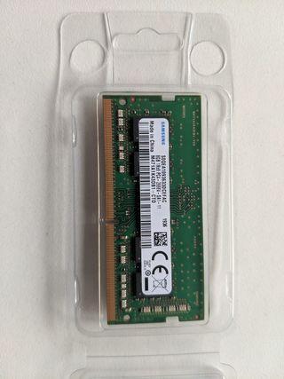 Memoria RAM de 8 GB para portátiles.