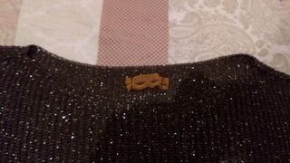 jersey marrón con puntos brillantes
