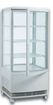 vitrina refrigerada expositora 4 caras cristal nue