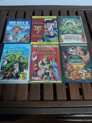 blurai +5dvd de películas de dibujos