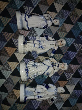 4 figuras de porcelana
