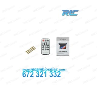 """PANTALLA TECHO 12,1"""" HD HDMI 1080P USB SD Y LUZ"""