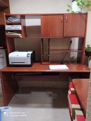 Mesa oficina con escriorio-estanteria