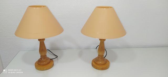 Juego de lamparas de mesita.