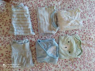 pack 1-3 meses bebé. 6 prendas