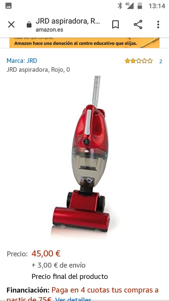Mini aspiradora de mano JRD