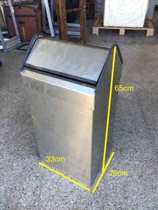 Papelera basculante acero inox, Ref: 291011