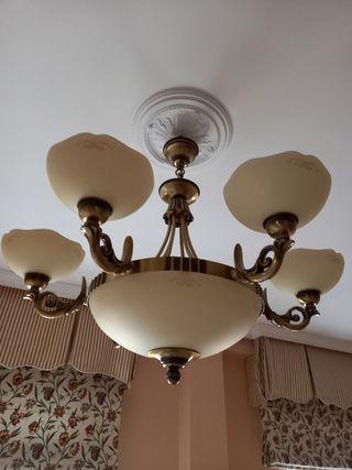 2 lámparas de salón vintage