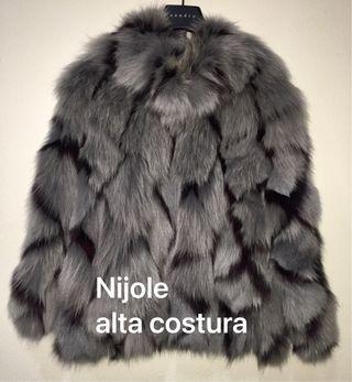 Abrigo piel alta costura Ninole