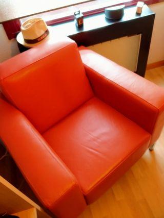 sofá de piel