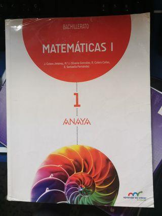 Libro de texto de matemáticas.