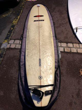 Tabla de surf longboard fibra 8' pies Mission