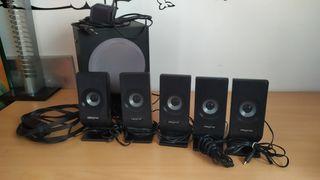 equipo de sonido envolvente 5.1