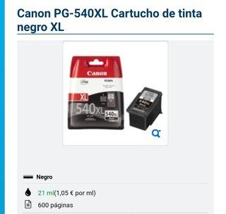 cartucho de tinta 540xl canon